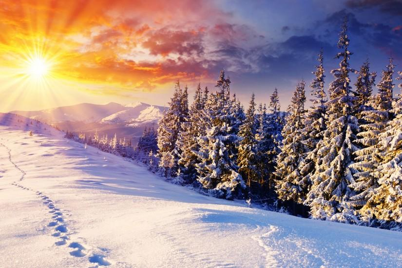 free winter background 1920x1080