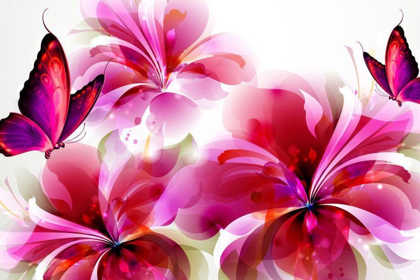 Wallpaper Flowers And Butterflies