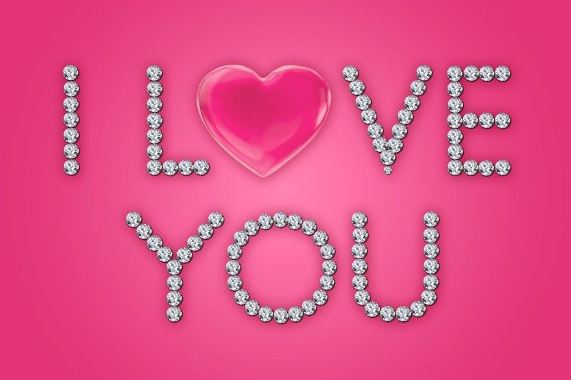 love i love you heart diamonds brilliant glamour pink design by marika