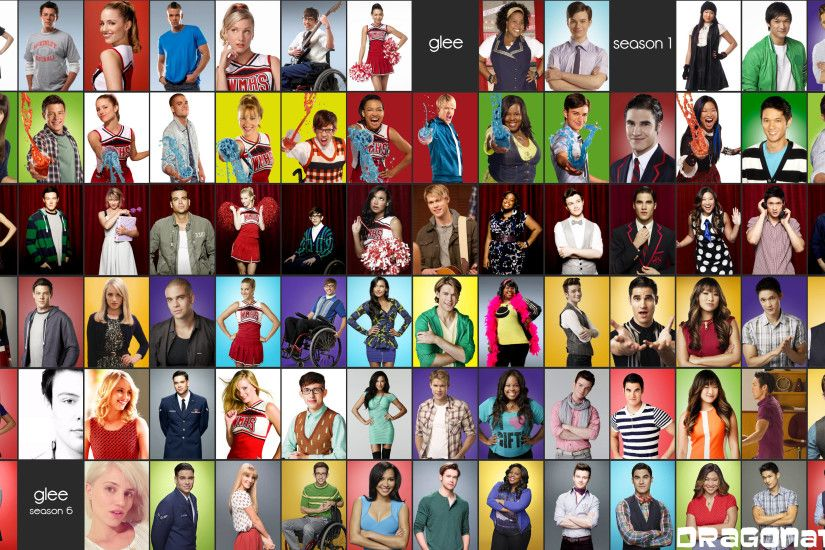 ... Wallpaper Glee Cast Season 1 To Season 6 with Lea Michele, Cory  Monteith, Heather Morris ...