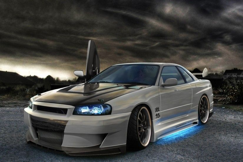 car, Nissan, Tuning, Artwork, Nissan Skyline GT R R34 Wallpaper HD