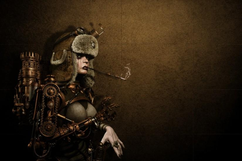 large steampunk background 1920x1080