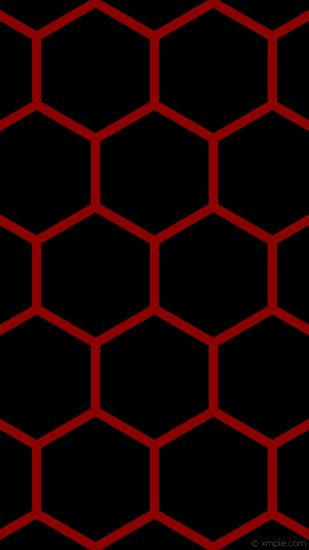 wallpaper red honeycomb black hexagon beehive dark red #000000 #8b0000 0°  33px 412px