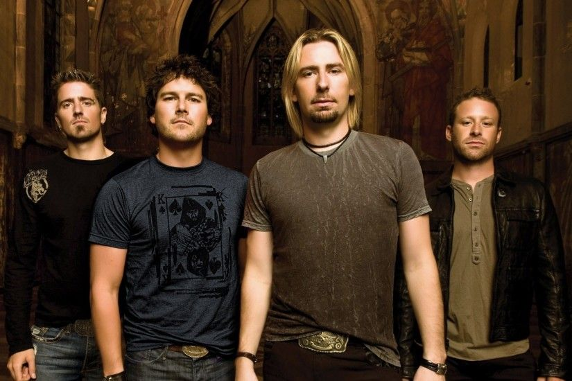 1920x1080 Wallpaper nickelback, band, members, cathedral, church