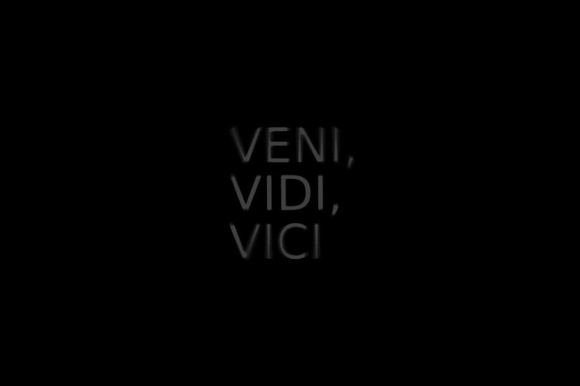 Backgrounds Black Background Julius Caesar Minimalistic Quotes Text  Typography Veni Vici Vidi Wallpaper ...