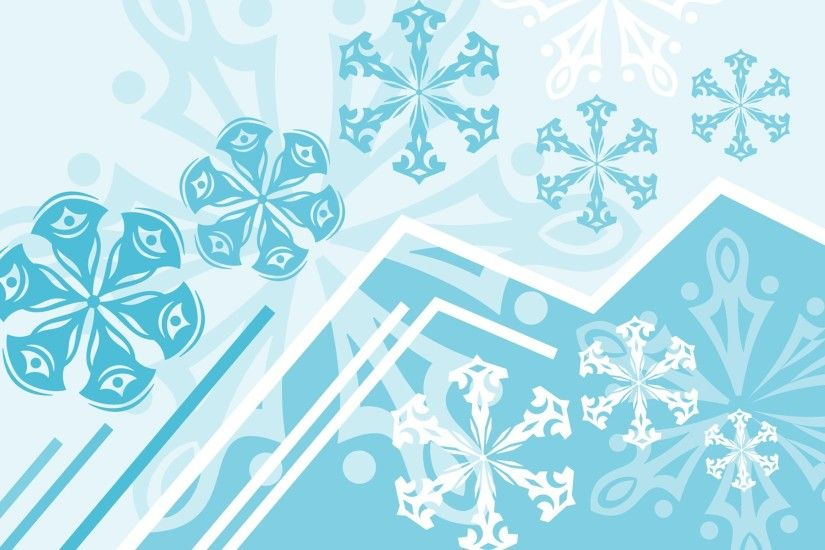 HD Abstract Winter background - Absract snowflakes patterns , Vector  snowflakes 1920*1200 NO.