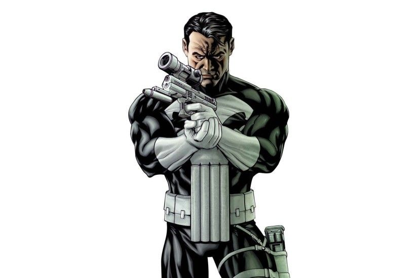 Punisher with a gun wallpaper