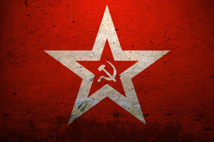 Hammer And Sickle, Star, The Ussr, Red