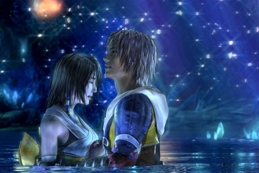 final fantasy tidus yuna romance love hd wallpaper search more fantasy .