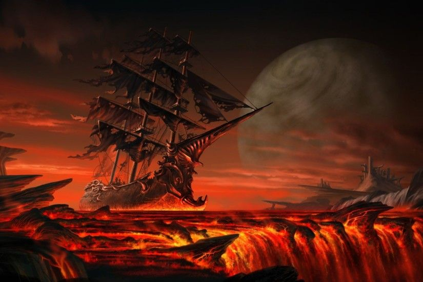 The Flying Dutchman is a legendary ghost ship that can never make port and  is doomed