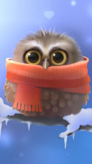 Cute owl Galaxy S6 Wallpaper