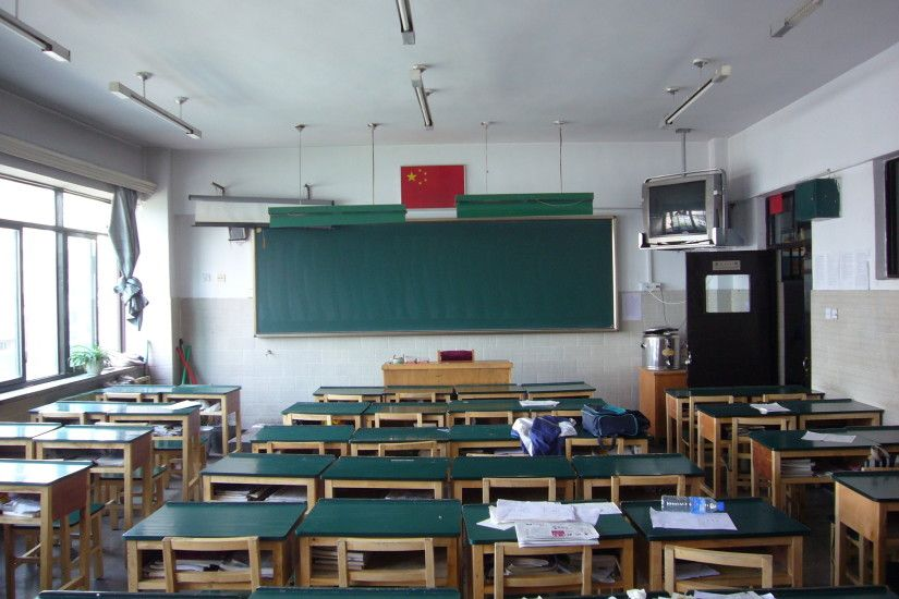 File:Classroom Urumqi No.1 high School.JPG - Wikimedia Commons
