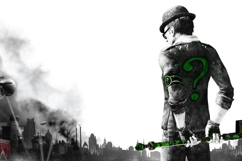 Pix For > Batman Arkham City The Riddler Wallpaper