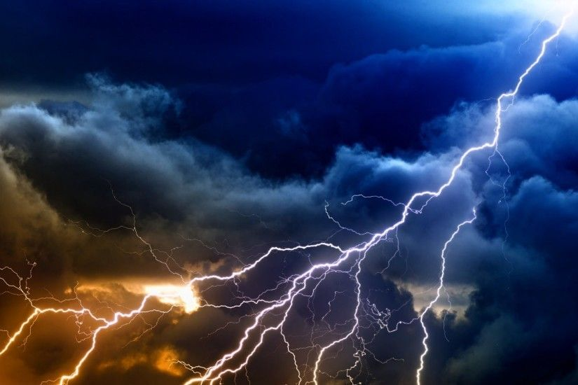 Clouds Sky Storm Nature Lightning Thunderstorm Rain Hd Photo Download Free  - 1920x1200