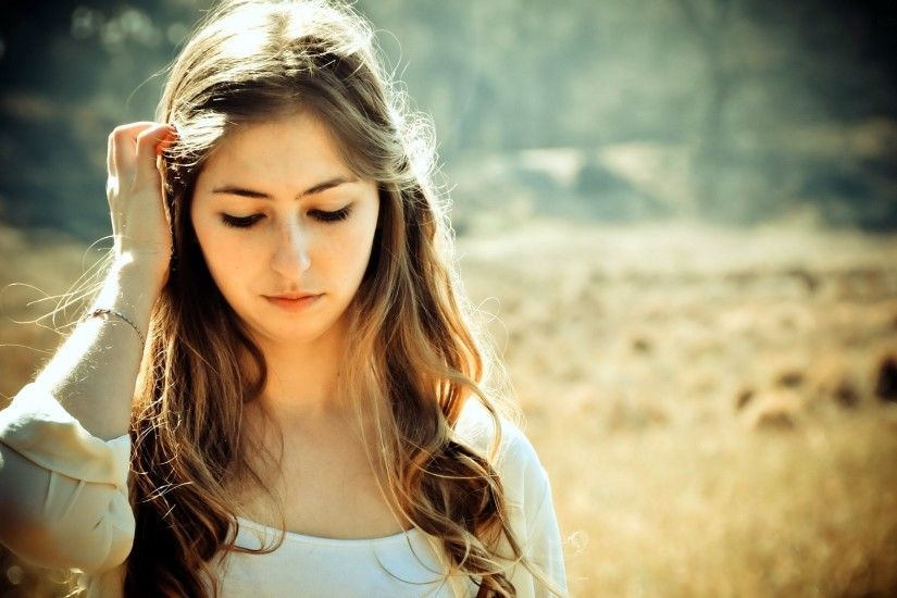 Beautiful, Sad, Girl, Widescreen, High, Definition, Wallpaper, Free,