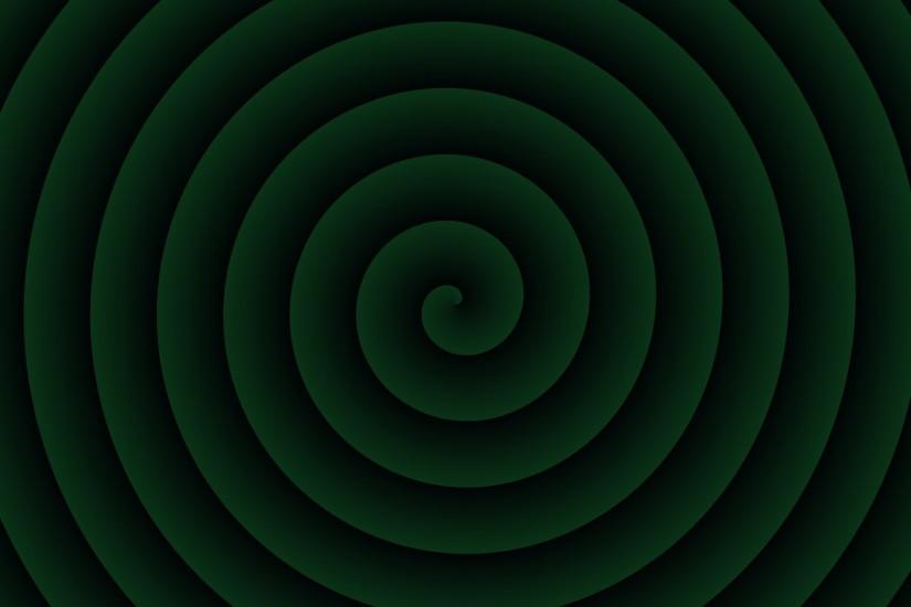 Green spiral background