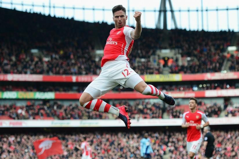 Preview wallpaper arsenal, football club, gunners, olivier giroud, mesut  ozil 1920x1080