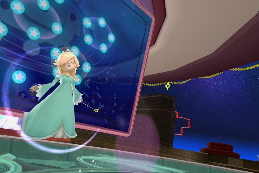 Rosalina creates a protective bubble to shield herself from attacks.