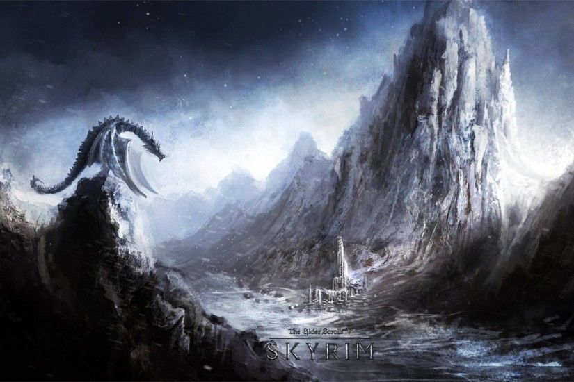 2560x1600 Skyrim Dragon Wallpapers - Full HD wallpaper search