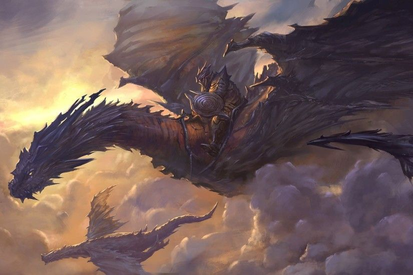 Paintings caves dragons fantasy art artwork wallpaper | 1920x1080 . ...