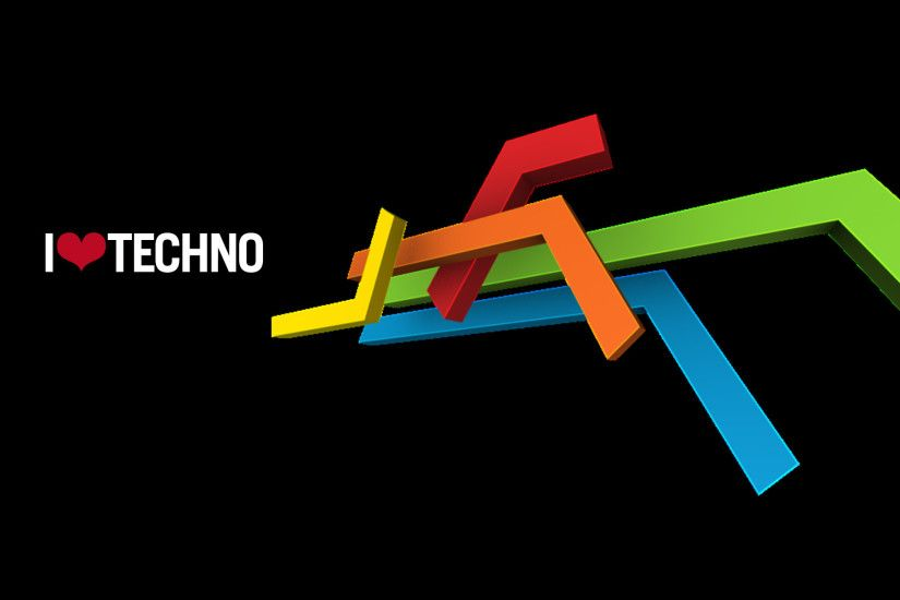 Love Techno wallpaper