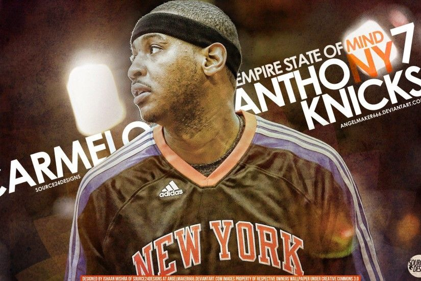 Carmelo Anthony Knicks Wallpaper by IshaanMishra Carmelo Anthony Knicks  Wallpaper by IshaanMishra