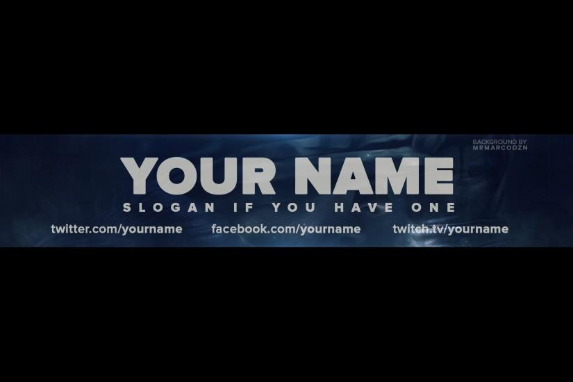 FREE Call of Duty Ghosts One Channel Banner Template YouTube GUFu5N55