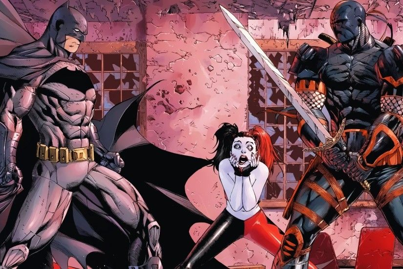 Deathstroke, Harley Quinn, Batman Wallpapers HD / Desktop and Mobile  Backgrounds