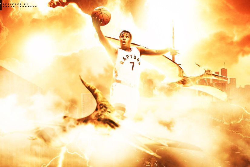 Kyle Lowry Flying With Raptors Wallpaper