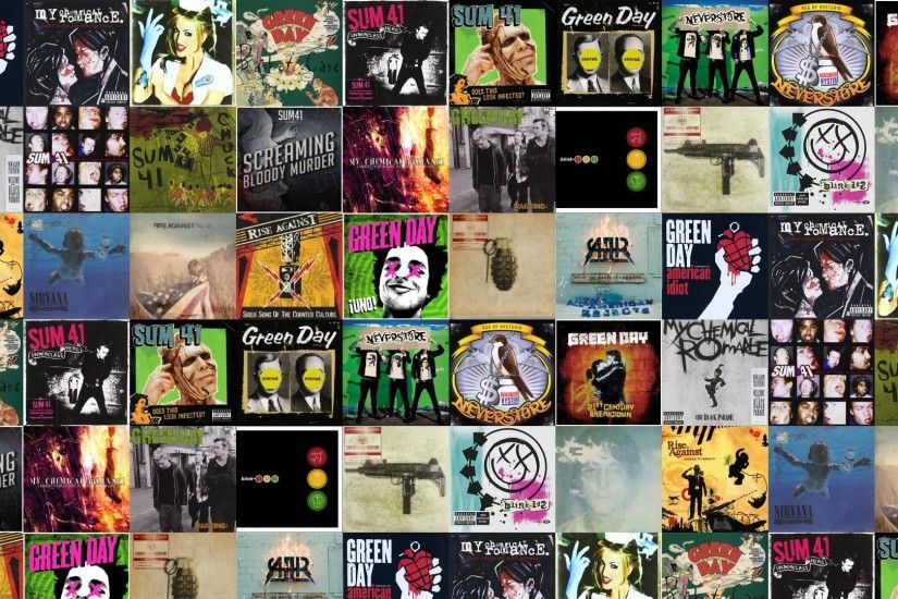 Download this free wallpaper with images of Green Day – American Idiot, My  Chemical Romance – Three Cheers For Sweet Revenge, Blink 182 – Enema Of  State, ...