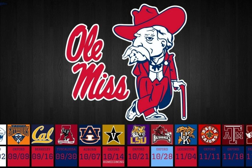 2017 Ole Miss Rebels Football Schedule – Ole Miss Colonel Reb Logo Desktop  Wallpaper