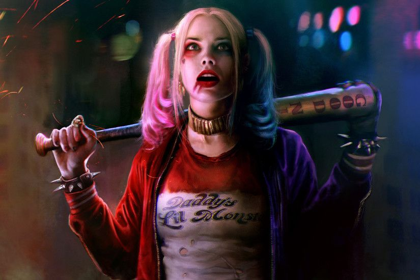#women, #DC Comics, #movies, #Suicide Squad, #Harley Quinn, #Margot Robbie,  wallpaper
