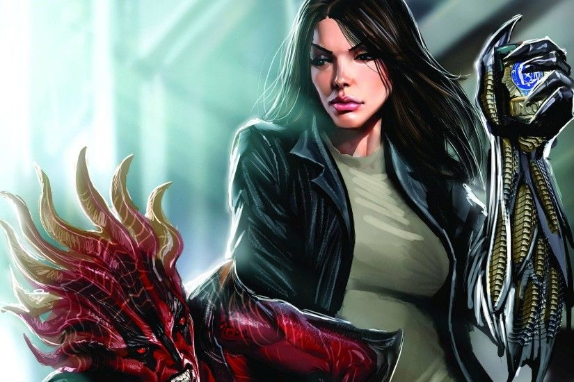 Witchblade in a fight