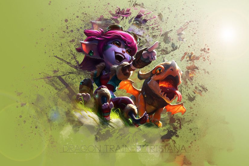 Dragon Trainer Tristana by Platna HD Wallpaper Fan Art Artwork League of  Legends lol