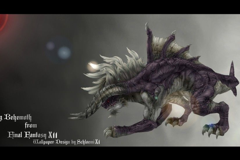 ... FINAL FANTASY XII KING BEHEMOTH WALLPAPER DESIGN by schloemixi