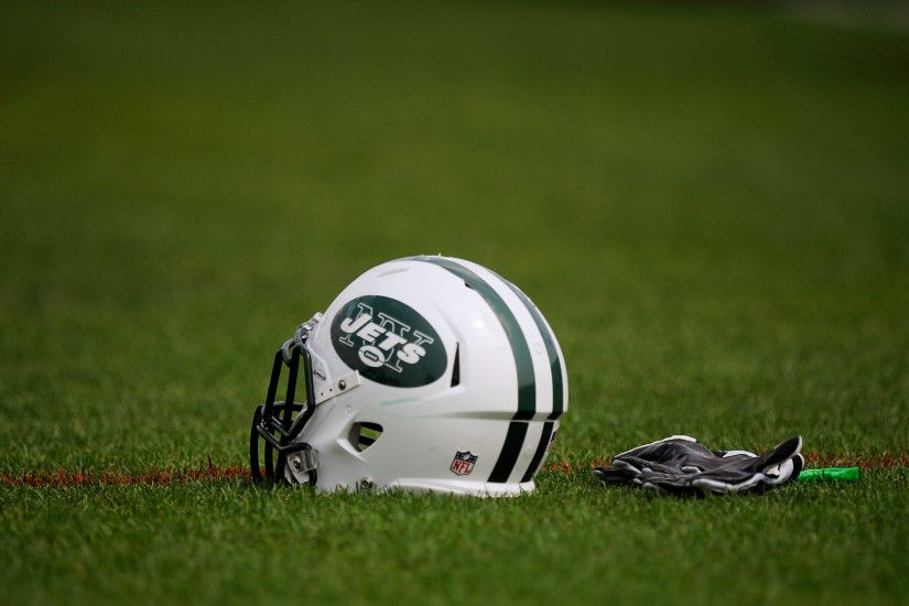 Download New York Jets Helmet HD Wide Wallpaper 52911
