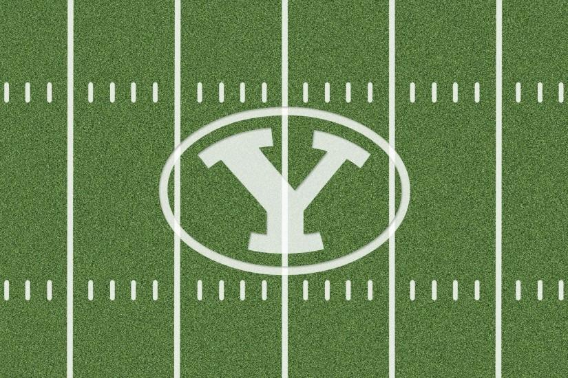 Byu Cougars Logo On Football Field Wallpaper, Background, Desktop .
