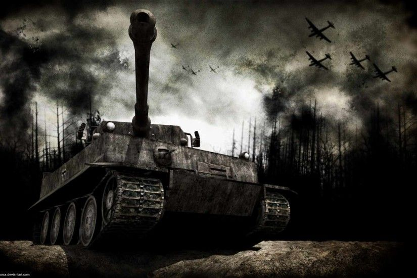 Panzer Tank World War II wallpaper from Dark wallpapers
