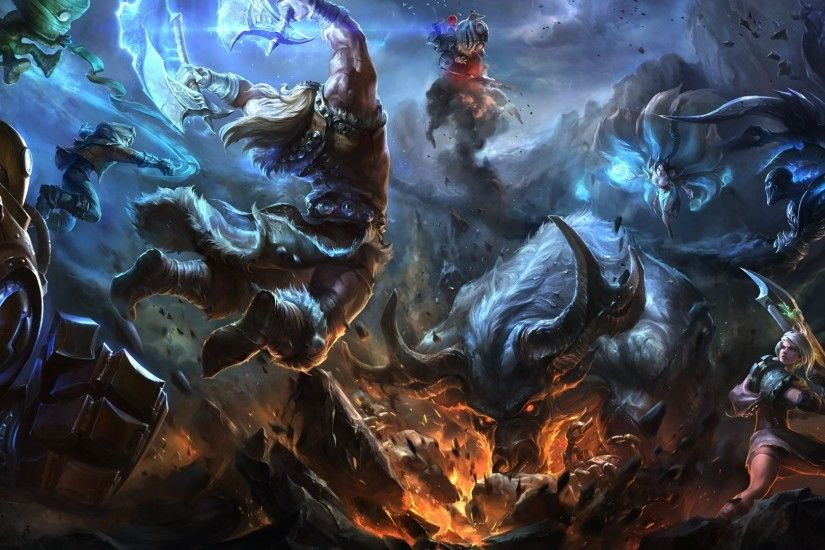 League of Legends Popular Game HD Wallpaper