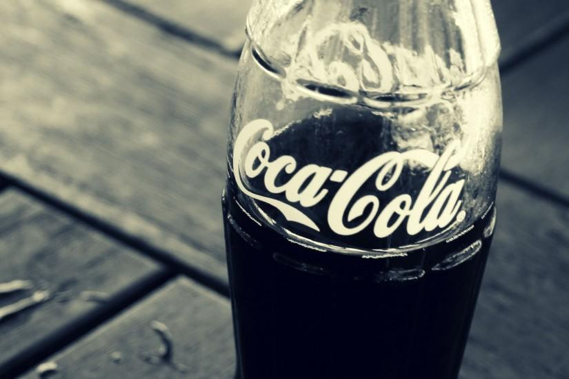 Preview wallpaper coca-cola, drink, bottle, soda, brand 3840x2160