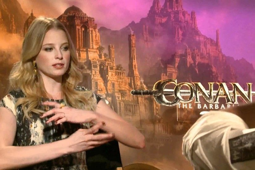 "Rachel Nichols (Tamara) Interview ""Conan the Barbarian"" (2011) - YouTube"