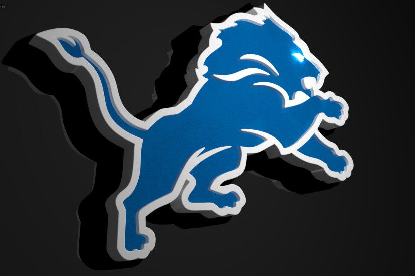 I'm learning how to 3D Model, so I'm recreating the NFL logos as practice.  Here's the Lions logo!