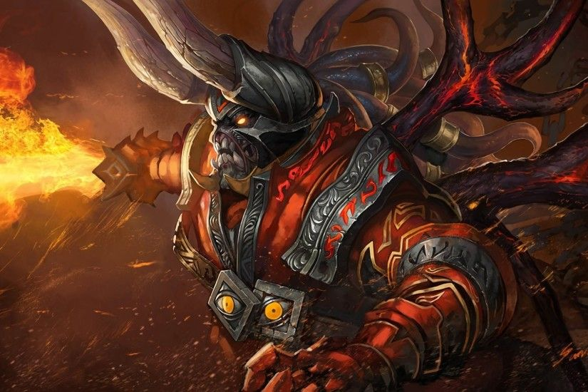 defense of the ancients dota lucifer the doom demon armour sword flame