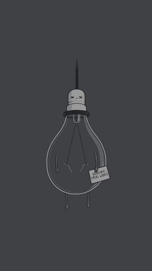 Simple humor lightbulb. Tap to see more simple Apple iPhone 6s Plus HD  wallpapers,