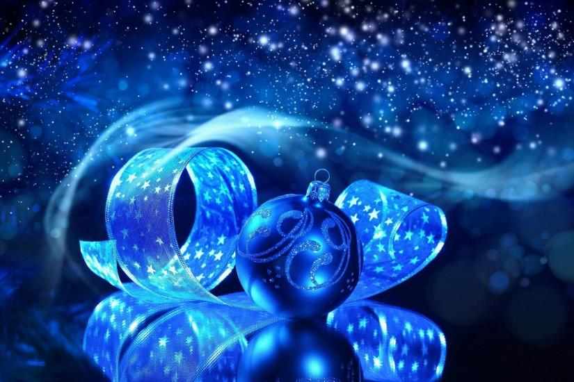 Blue Christmas Background Widescreen.