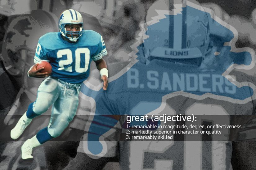 Barry Sanders Wallpaper Images & Pictures - Becuo · barry sanders detroit  lions ...