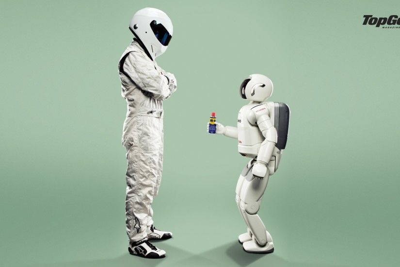 The Stig meets Asimo.