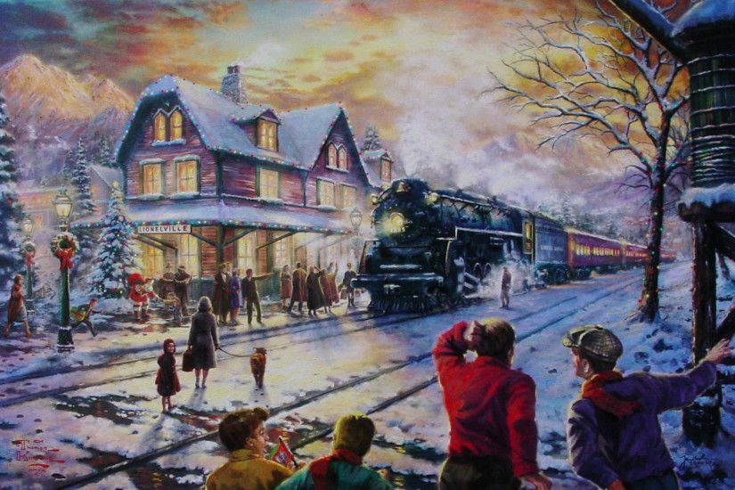 All Aboard for Christmas - Karen's Kinkade Art Store .
