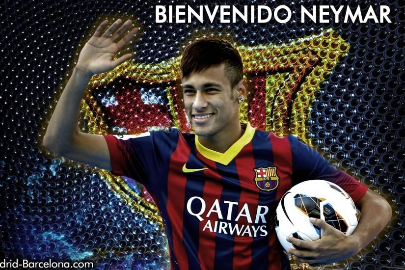 Neymar Welcome To Barcelona HD Wallpaper is a hi res Wallpaper .