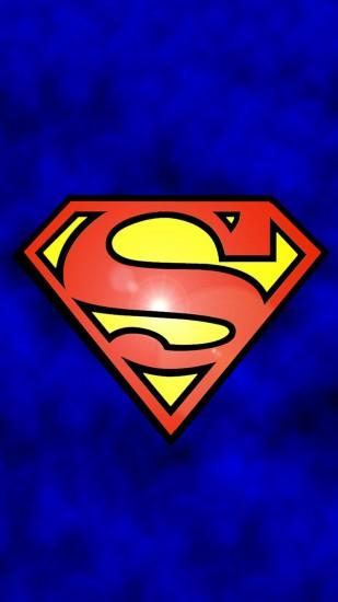 SUPERMAN LOGO IPHONE WALLPAPER BACKGROUND